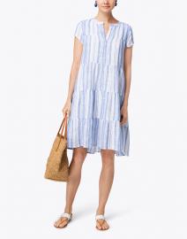 Pamela Montauk Blue and White Striped Cotton Dress