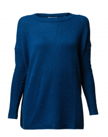 5354b146442023 ... look Kinross Teal Blue Cashmere Sweater $340 More colors available ...