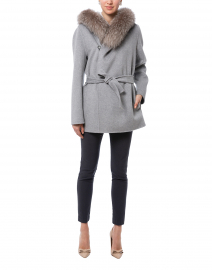 Fedora Grey Wool Cashmere Jacket