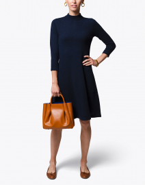 Navy Cashmere Sweater Dress
