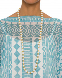 Gold Beaded Single Strand Necklace