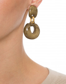Scarlett Gold Resin Clip On Earrings