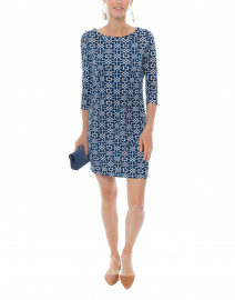 Magpie Navy Printed Cotton Dress