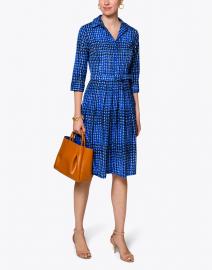 Audrey Cobalt Blue Check Cotton Shirt Dress