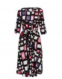 7b255ac736 ... look  S Max Mara Astrid Multicolored Geometric Printed Stretch Poplin  Dress  625 ...