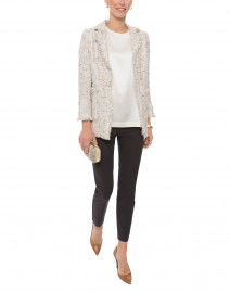 Light Beige Iridescent Shimmer Tweed Jacket
