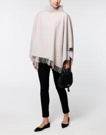 Beige Wool Silk Cashmere Cape