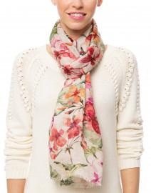 Multicolor Floral Printed Linen Cotton Scarf