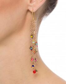 Fiesta Multicolor Beaded Chain Earrings
