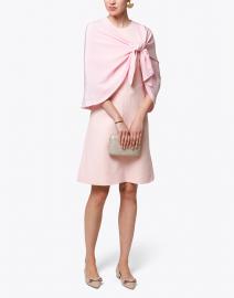 Pale Pink Silk Crescent Wrap