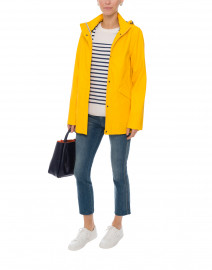 Ste Morgane Yellow Waterproof Raincoat