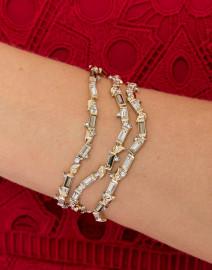 Crystal Baguette Sculptural Cuff Bracelet