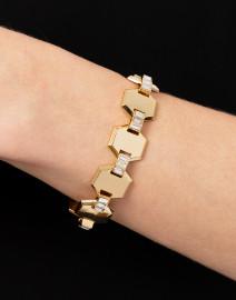 Meta Gold Crystal Line Bracelet