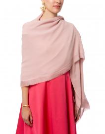 Pink Silk Cashmere Silk Twill Scarf