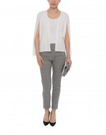 Brette Ivory Split-Sleeve Cardigan Sweater
