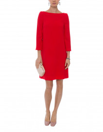 Harlow Red Tunic Wool Crepe Dress