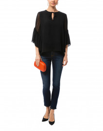 Alicia Black Silk Blouse
