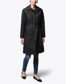 W Trench Black Padded Rain Jacket