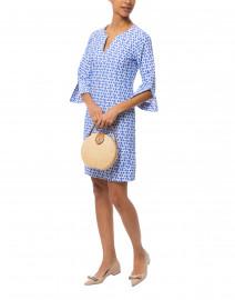 Megan Periwinkle Link Printed Stretch Dress