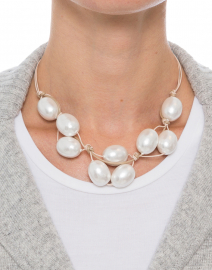 Cotton Pearl Sand Necklace