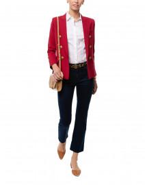 Mini Duchess Pomegranate Red Wool Blazer