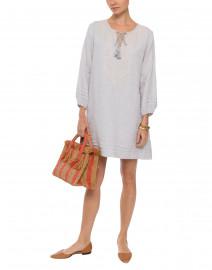 Sora Pale Grey Linen Dress
