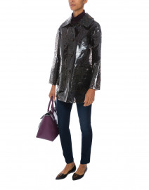 Clear Instinct Black Leopard Print Jacket