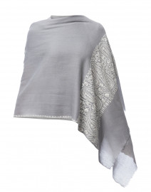 0c209ae56 ... look Deivi Grey Embroidered Cashmere Scarf  245 More colors available  ...
