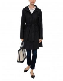 Black Curve Waterproof Raincoat