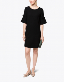 Irinna Black Wool Crepe Tunic Dress