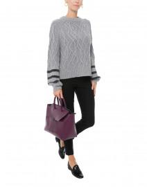 Selkia Grey Wool Cashmere Sweater