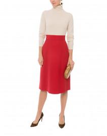 Adriana Red Wool Skirt