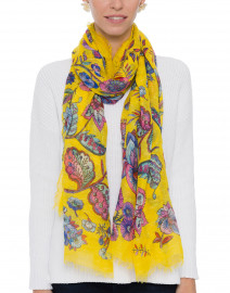 Yellow Multi Floral Print Scarf