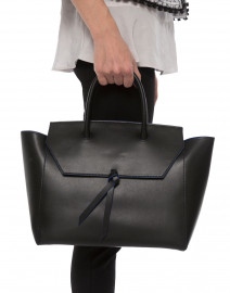 Loren Black Leather Tote