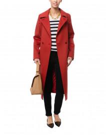 Collage Dark Red Wool Coat
