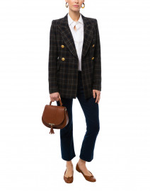 Wedding Charcoal Grey Plaid Blazer