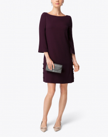 Harlow Plum Wool Crepe Tunic Dress