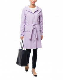 Lavender Curve Waterproof Raincoat