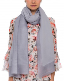Lavender Cashmere Silk Twill Scarf