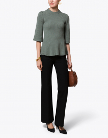 Sage Green Ribbed Sweater