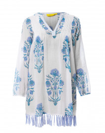 8f255aa32c2e42 ... look Roller Rabbit Corin Ziva White and Blue Floral Cotton Tunic $145  ...