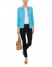Blue Cotton Milano Swing Jacket