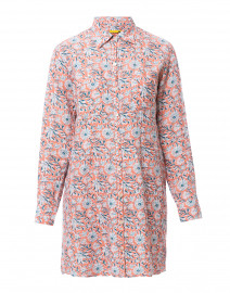 af5296f27579e7 ... look Roller Rabbit Tishka Coral and Teal Floral Printed Linen Shirt  Dress $225 ...