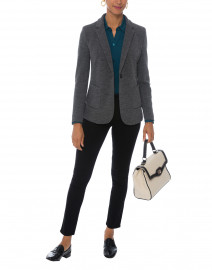Grey and Navy  Blazer