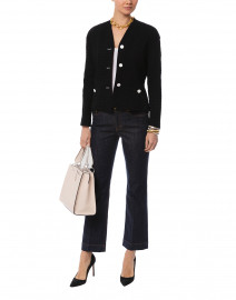 Byheartya Black Jacquard Blazer Jacket