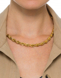 Thin Gold Rope Chain Necklace
