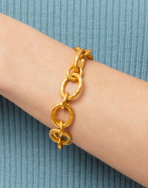 Catalina Gold Small Link Bracelet