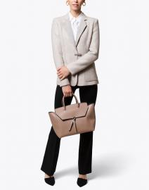 Light Grey Wool Blazer with Tab Closure