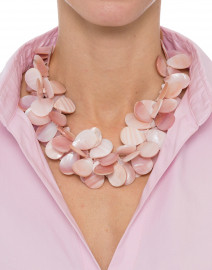 Pink Mother of Pearl Cluster Necklace