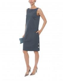 Collins Port Blue Stretch Cotton Dress